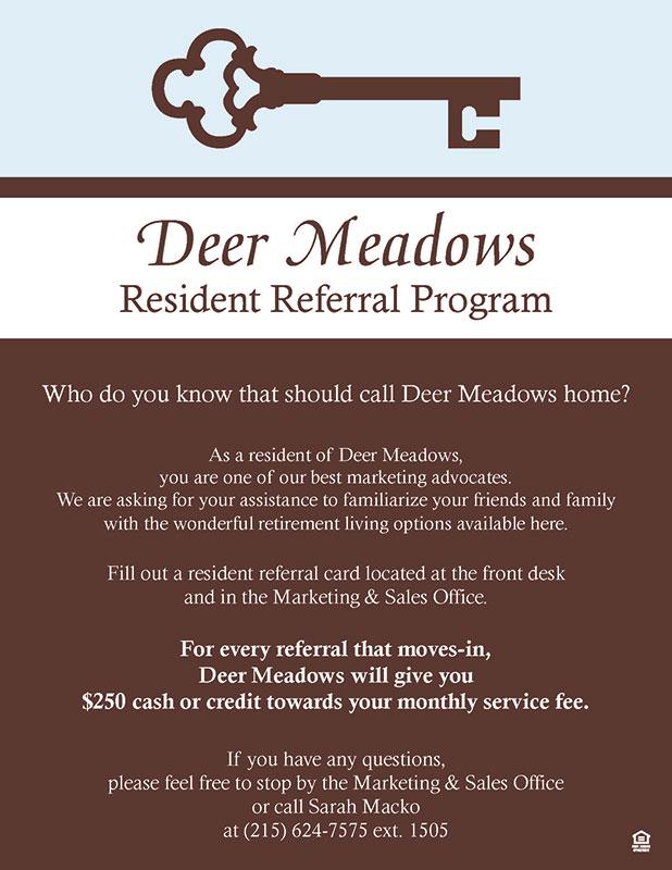 deer meadows resident referral