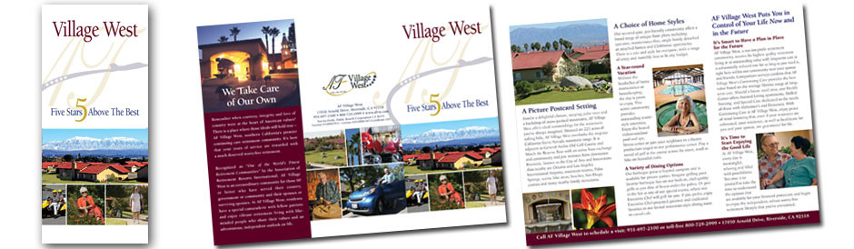 AF Village West Trifold Brochure