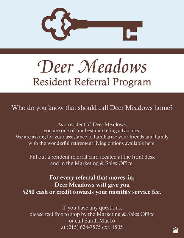 deer meadows resident referral